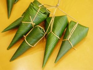 笹の葉採りと笹巻き体験
